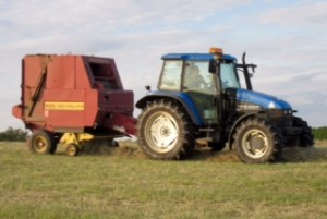 Nigel tractor hay making